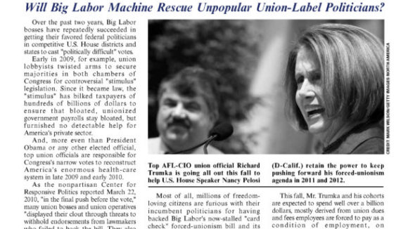 September 2010 issue of The National Right To Work Committee Newsletter is available