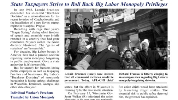March 2011 issue of The National Right To Work Committee Newsletter now available