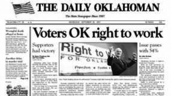 Oklahoma's Right to Work Anniversary -- A Success Story!