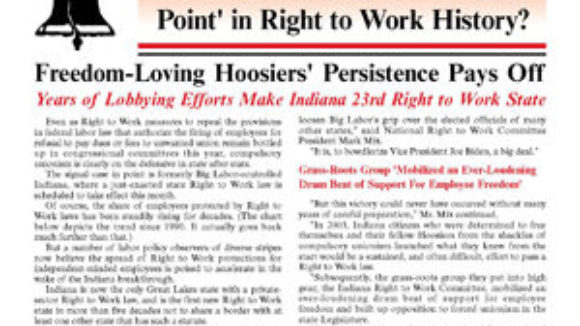 Special Newsletter Supplement -- Victory in Indiana: A 'Turning Point'?