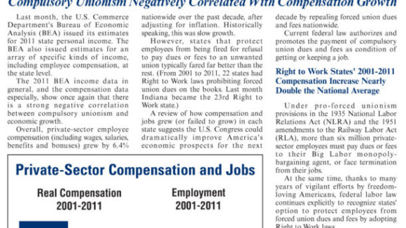 April 2012 The National Right To Work Committee e-Newsletter available