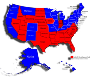 Right To Work States Map