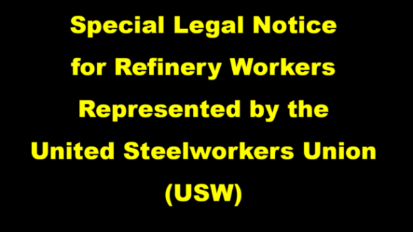 Special Legal Notice for Refinery Workers
