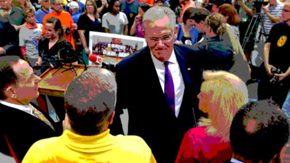 MO Gov Nixon Celebrates Right to Work Veto in Union Halls