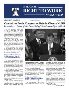 August 2015 Newsletter Cover