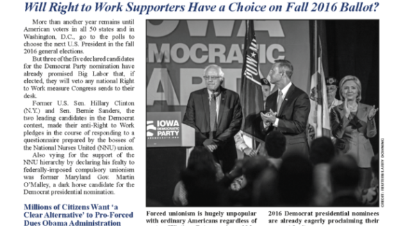 September 2015 National Right To Work Committee Newsletter available online