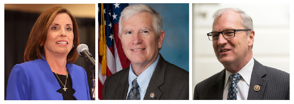 Among the U.S. House members who recently became cosponsors of the Right to Work Act after hearing from freedom-loving constituents mobilized by the Committee are Martha McSally (Ariz.), Mo Brooks (Ala., center), and Kevin Cramer (N.D.).