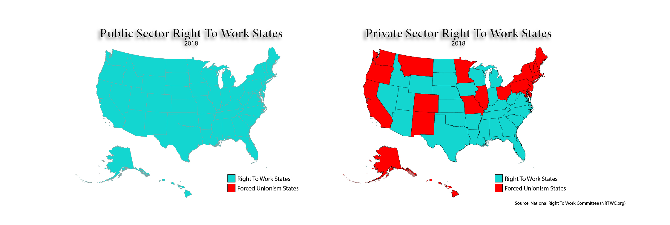 2018 Right To Work States