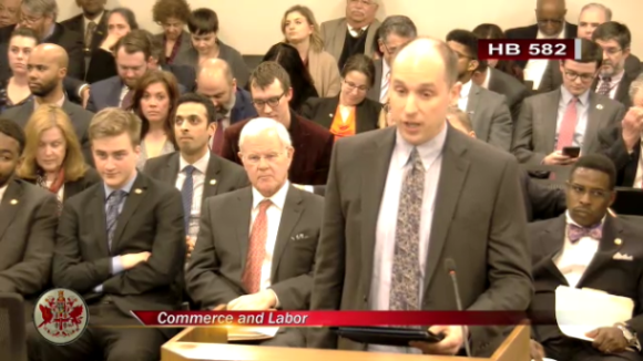 VA Senate - Government Unionization Act:  National Right To Work Committee V.P. John Kalb Testifies