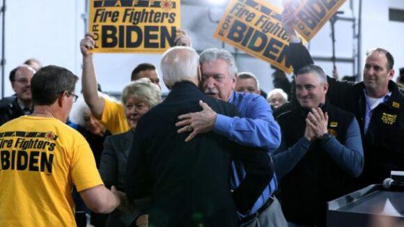 Joe Biden Embraces Shady Union Boss' Support