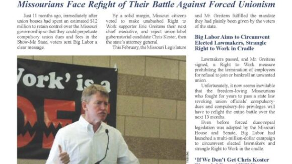 October 2017 National Right To Work Newsletter Summary