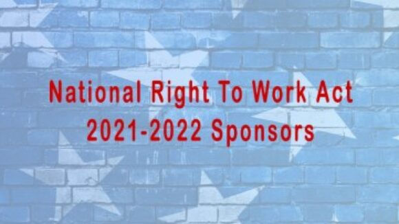 2021-2022 National Right To Work Act Sponsors - 101 Co-Sponsors