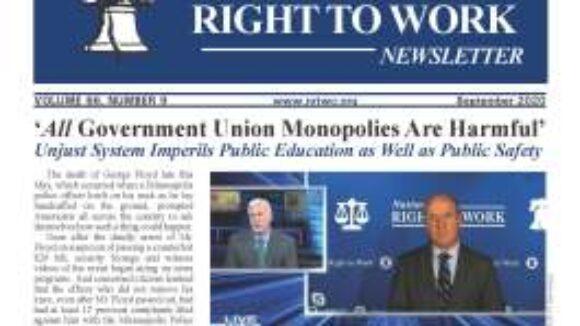 September 2020 National Right To Work Newsletter Summary
