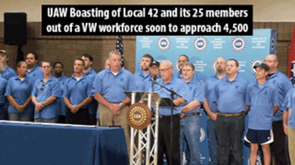 UAW's Chattanooga Kabuki, Trying To Look Relevant
