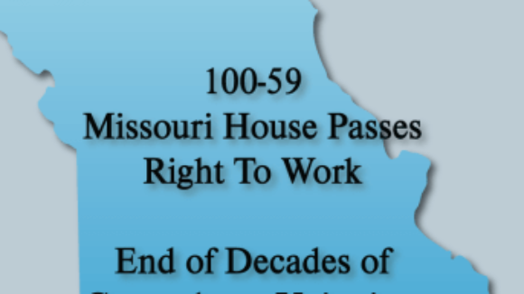 National Right to Work Statement on Missouri House Passing Right to Work