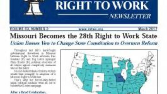 March 2017 National Right To Work Newsletter Summary