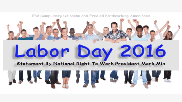 National Right to Work Labor Day Statement