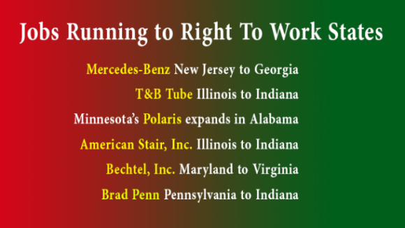 Pack Your Bags, We're Moving to a Right To Work State