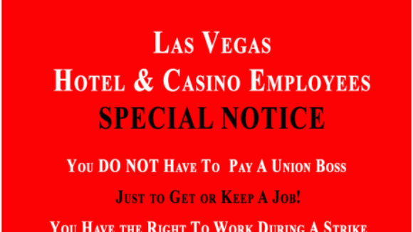 SPECIAL NOTICE Las Vegas-Based Casino and Hotel Employees