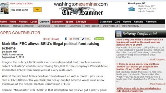 "FEC ""legitimizes"" SEIU's latest PAC scheme"