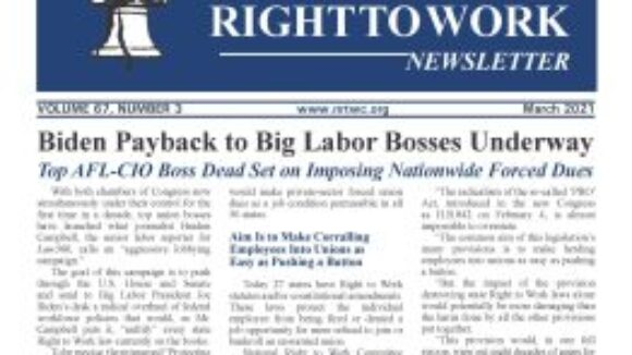 March 2021 National Right to Work Newsletter Summary