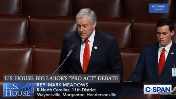 Mark Meadows Defends Right To Work Freedom Against Big Labor's PRO Act