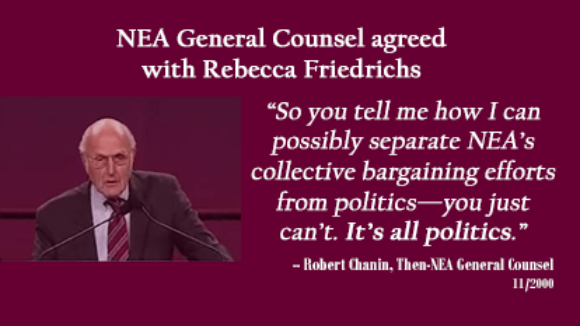 NEA General Counsel Agreed With Friedrichs' Claims