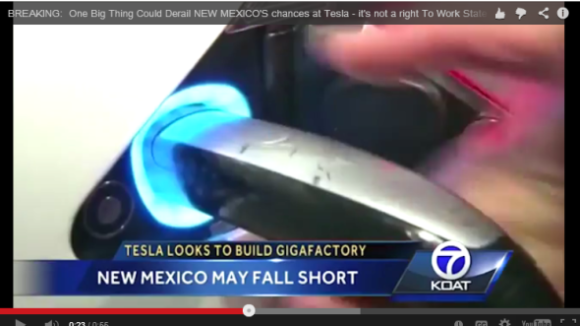 UPDATE:  Tesla Chooses Right To Work State for New Factory