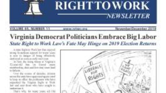 November/December 2019 National Right To Work Newsletter Summary