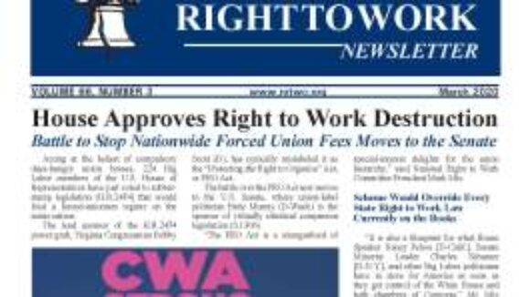 March 2020 National Right To Work Newsletter Summary