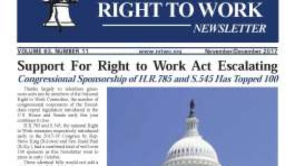 November/December 2017 National Right to Work Newsletter Summary