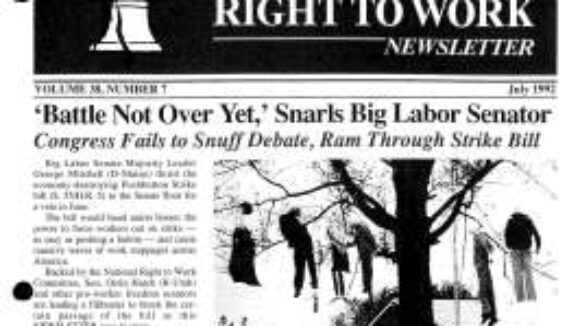July 1992 National Right to Work Newsletter Summary