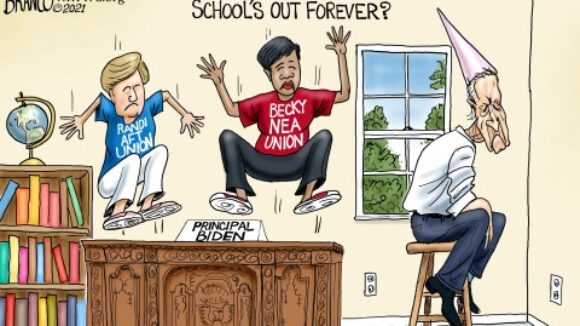 Biden Bailout Will Enable Big Labor-Controlled Government Schools to Pad Payrolls Despite Schoolkids' Exodus