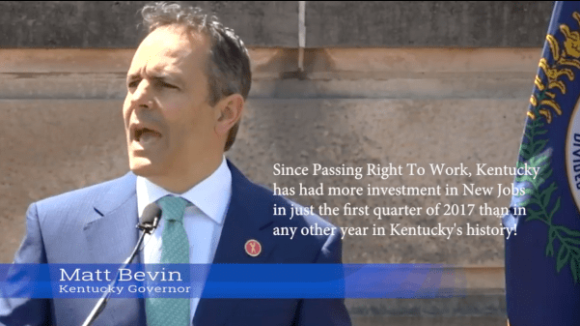 Right To Work Passed, Jobs Booming in Kentucky