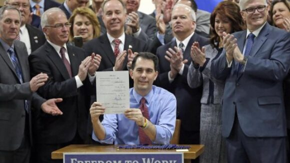 Private-Sector Job Growth Soaring in Right to Work Wisconsin