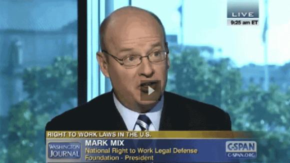NRTW President Mark Mix on C-SPAN Labor Day 2014