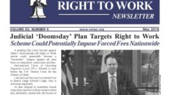 May 2016 National Right to Work Newsletter