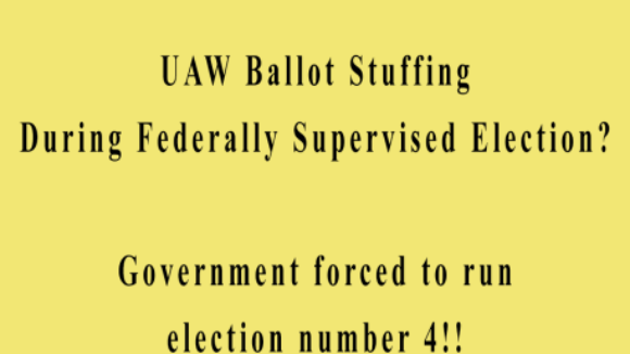 Obama NLRB Oversees Ballot Stuffing in UAW Election