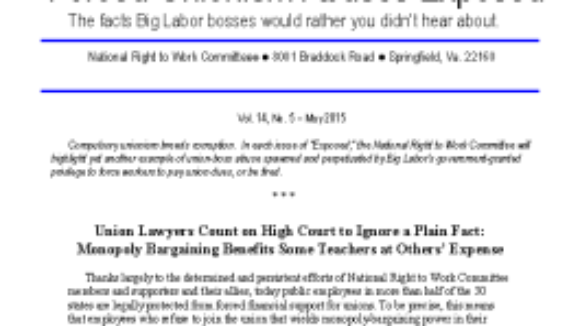 "Big Labor's Harmful ""Representation"""