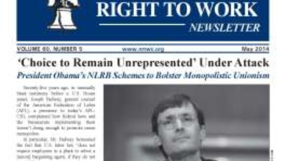 May 2014 National Right to Work Newsletter Summary