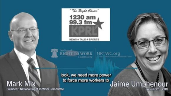 Jaime Umphenour & National Right to Work President  Mark Mix: Benefits of Right to Work