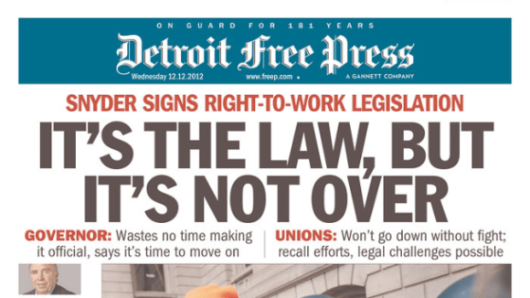 Good News -- Michigan Right To Work Protections Prevail