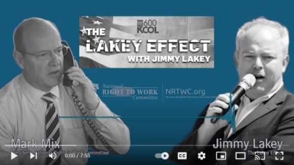 MORNINGS WITH JIMMY LAKEY: Mark Mix on Big Labor Biden Policies