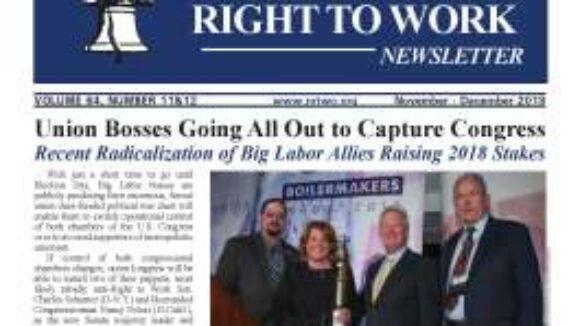 November/December 2018 National Right To Work Newsletter Summary