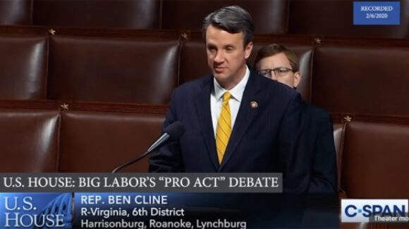 Virginia US Representative Ben Cline warns of dire consequences of repealing Right To Work