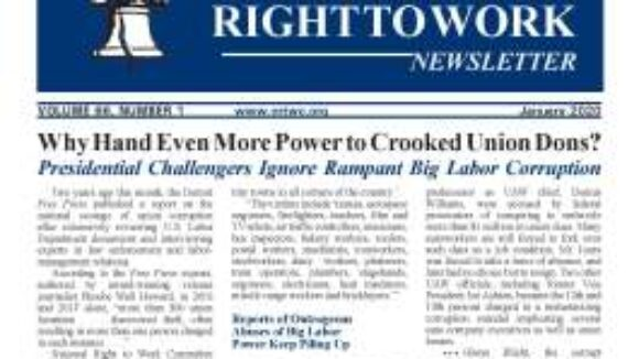 January 2020 National Right To Work Newsletter