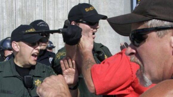 Radical AFL-CIO union violently seize port,
