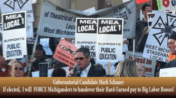 Gov. Wannabe Schauer Promise: Enslave Michiganders to Big Labor Bosses