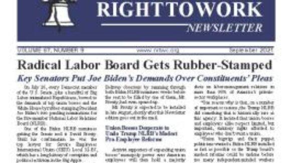 September 2021 National Right to Work Newsletter Summary